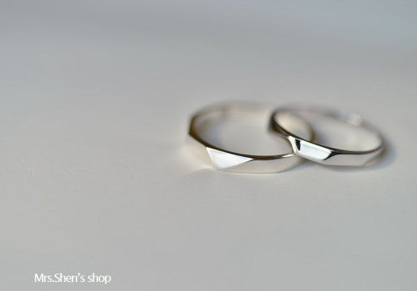 826e9048c Mrs.Shen 925 Sterling Silver Simple design couple ring,minimalist,gift,unique,simple,classic  ring,crystal,lover, man woman ring,girl ring by MrsShen on Etsy