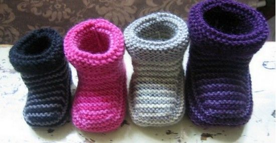 Knitted Striped Baby Booties Pattern Baby Booties Free Crochet
