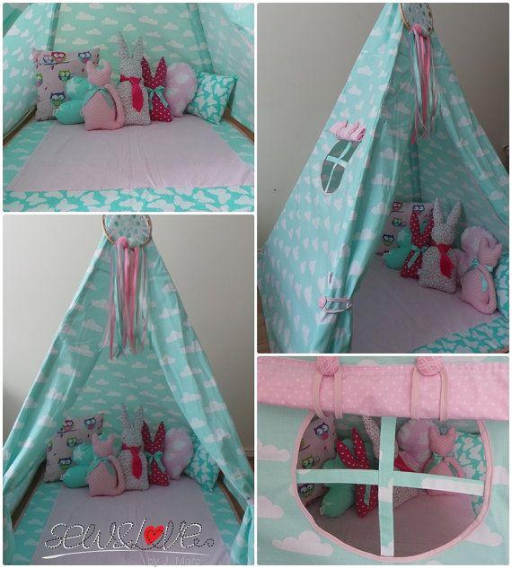 childrens handmade tent / teepee /tipi ?? SewandLovebyJMarc & childrens handmade tent / teepee /tipi ?? SewandLovebyJMarc | ???? ...