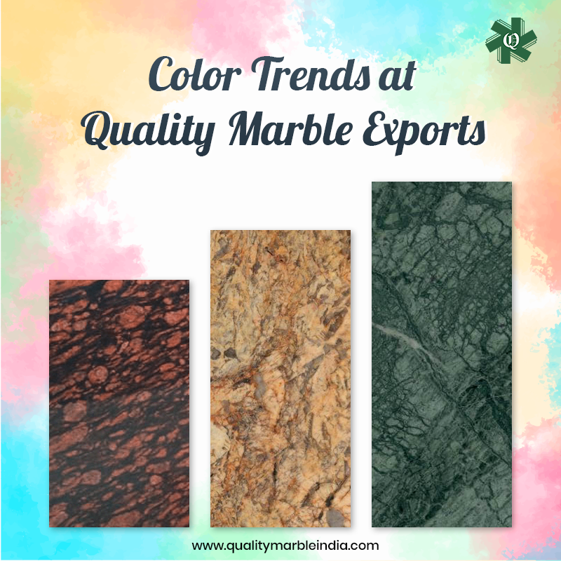 Have you been dreaming of creating a colorful and inviting home #interior? Then this #Holi season dare to #decorate your #home with the brightest and deepest #naturalstone colors. Read the blog and explore the list of colorful premium-quality #marble and #granite.    #qmindia #happyholi #happyholi2020 #holi2020 #marbleexporters #graniteexporters #festivalofcolors #colours #happiness
