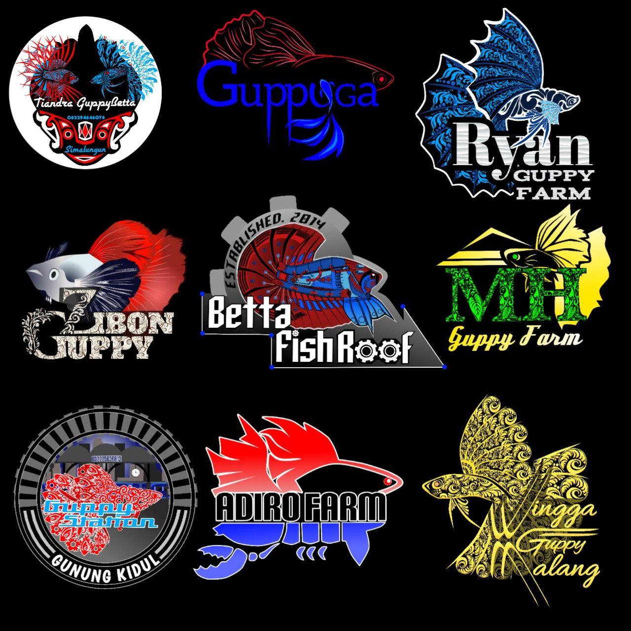 Fish Logo Design Seni Kaligrafi Desain Banner Desain Logo