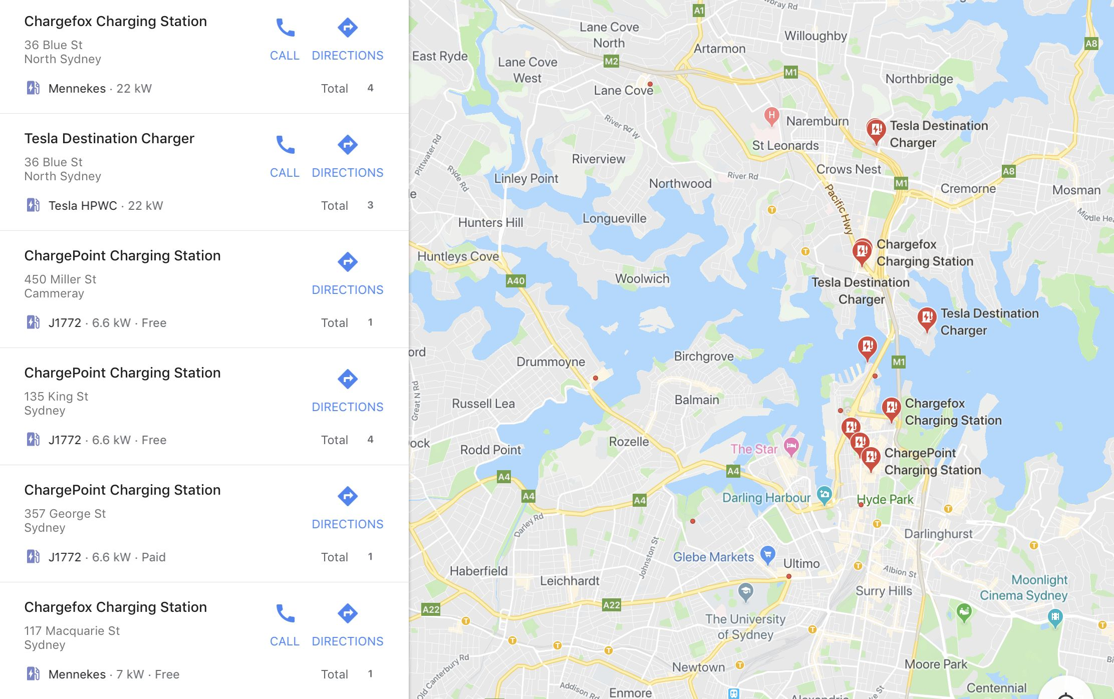 Google Maps adds Aussie EV Charging Stations (With images