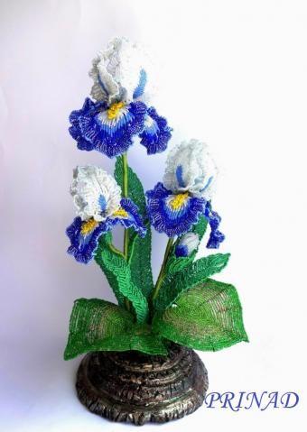 Ирис из бисера Цветы из бисера 179