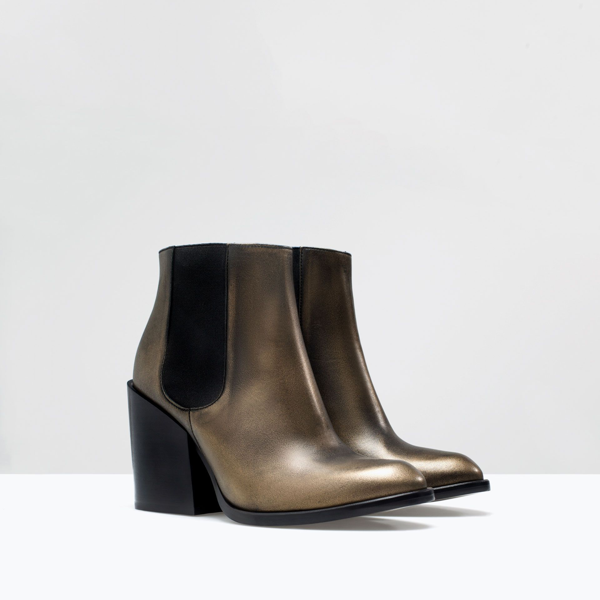 ZARA - NEW THIS WEEK - LEATHER HIGH HEELED BOOTS