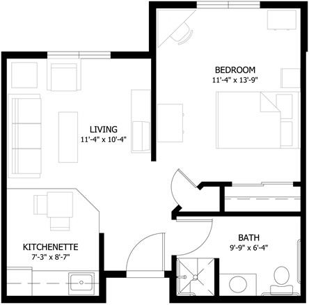 Pine Crest Village Floor Plans Floor Plans Studio Apartment Plan How To Plan