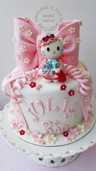 Hello Kitty Cake  tolle Torten und Kuchen  Torten und Backen