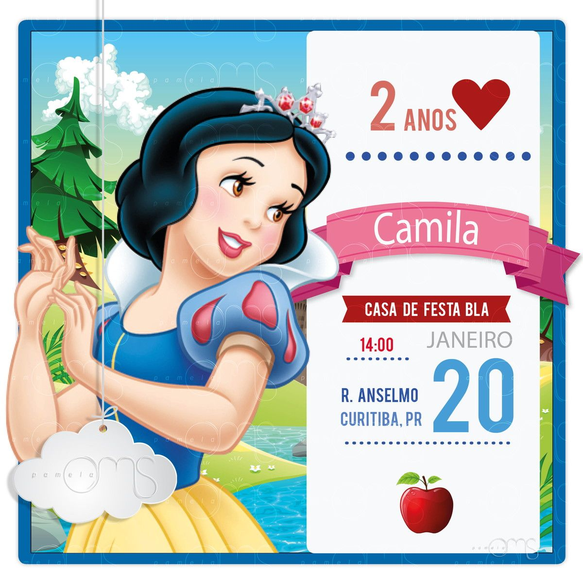 Convite Digital Branca De Neve 001 Ideias Pinterest Snow White