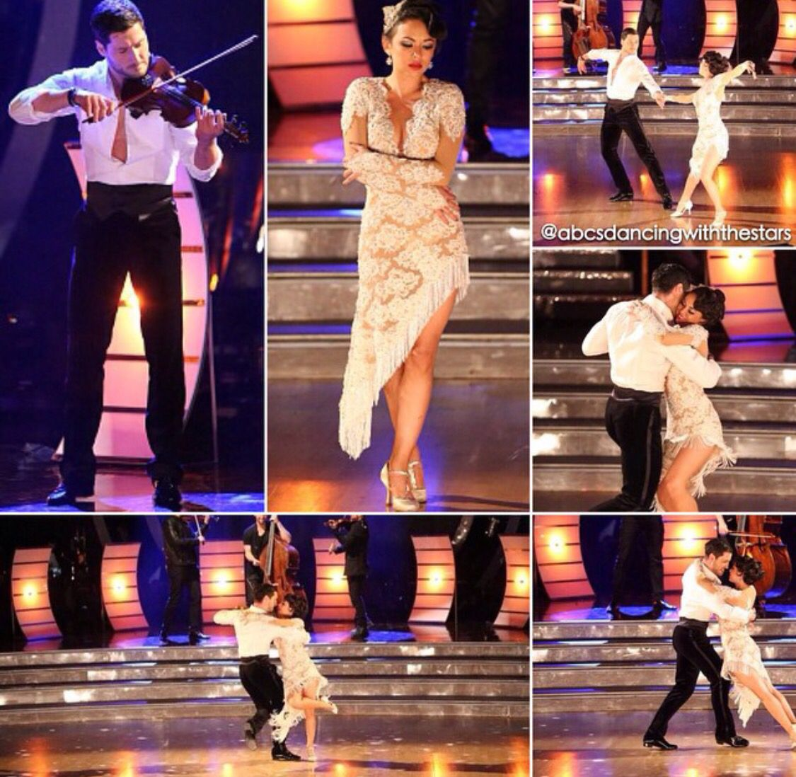 Val Chmerkovskiy & Janel  -  Dancing With the Stars  -  week 10  -  season 19  -   11/17/14  -  who knew Val was also a violinist