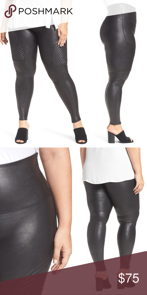 40d95092773e9 NWT SPANX Faux Leather High Waisted Moto Leggings Brand new with tags! Pull  on style