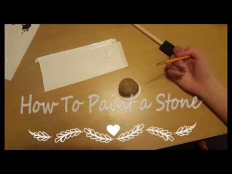 HOW TO PAINT A ROCK.....SHEP.... - YouTube