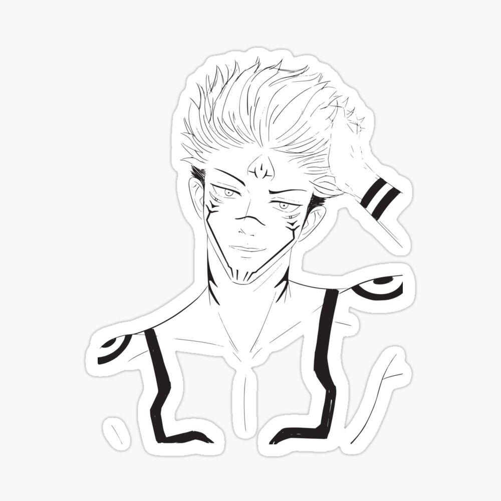 Get My Art Printed On Awesome Products Support Me At Redbubble Rbandme Https Www Redbubble Com I Sticker Sukuna Jujutsu Anime Chibi Jujutsu Anime Tattoos