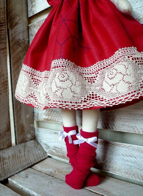 Cloth Doll Rag Doll Red Spanish Doll #spanishdolls