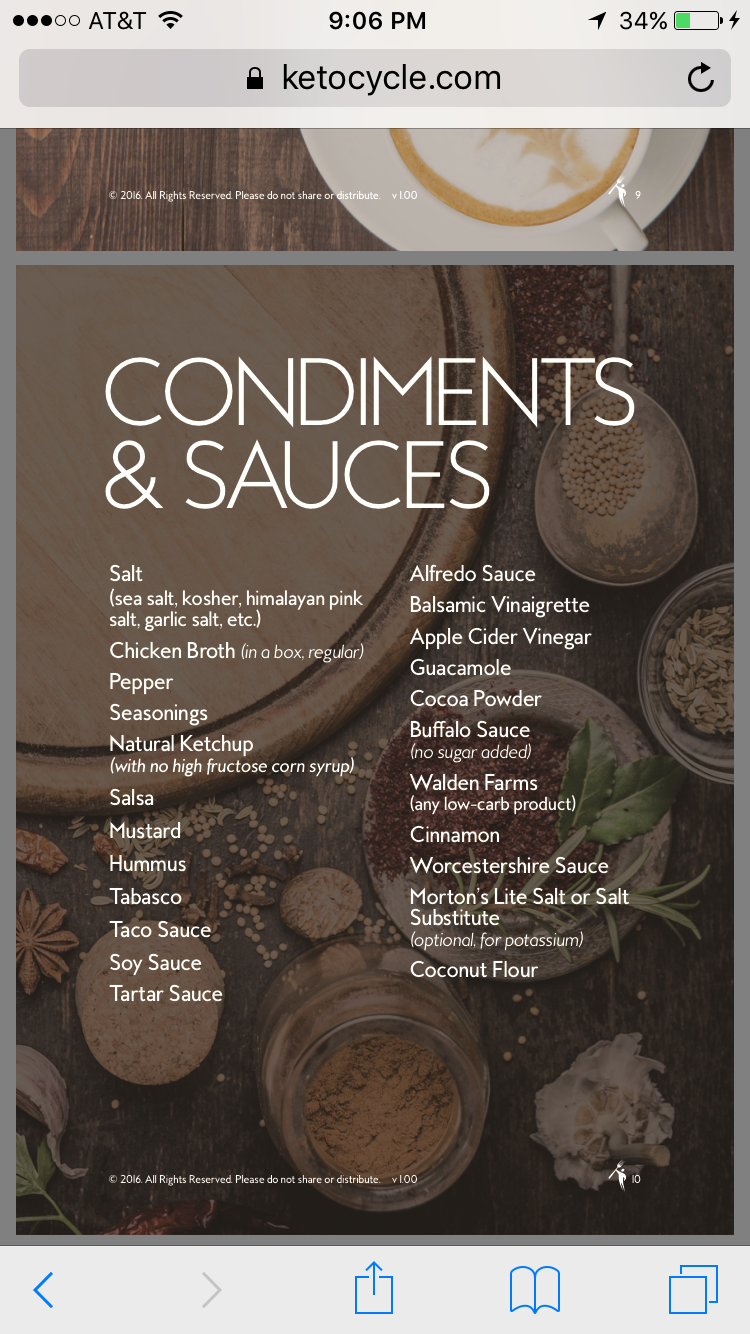 sauces allowed on keto diet