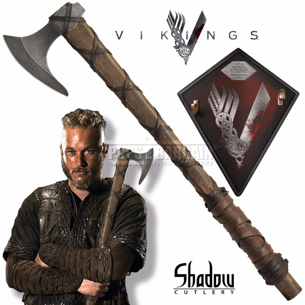 Vikings BATTLE AXE OF RAGNAR LOTHBROK (Licensed) Limited Edition SH8000LE #ShadowCutlery