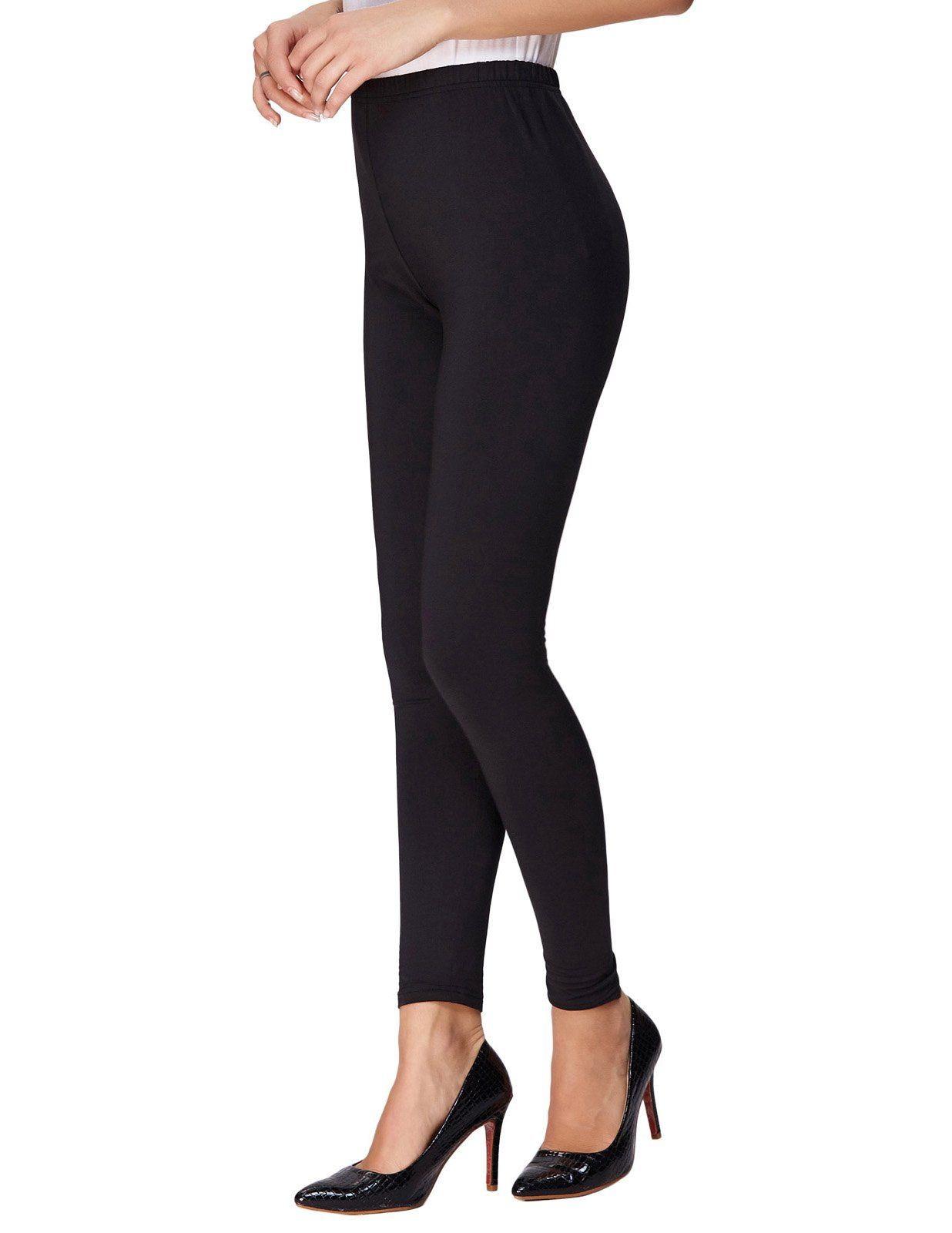 64e71144af2 Women Fleece Lined Leggings High Waist Premium Ultra Soft Full Length Black  S MKK8271 -- Check this awesome product by going to the link at the image.