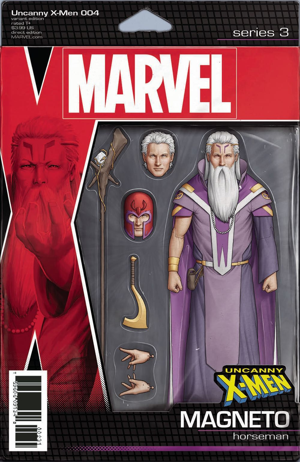 Uncanny X Men 4 Action Figure Variant Cover Magneto By John Tyler Christopher Marvel Marvel Action Figures Comics