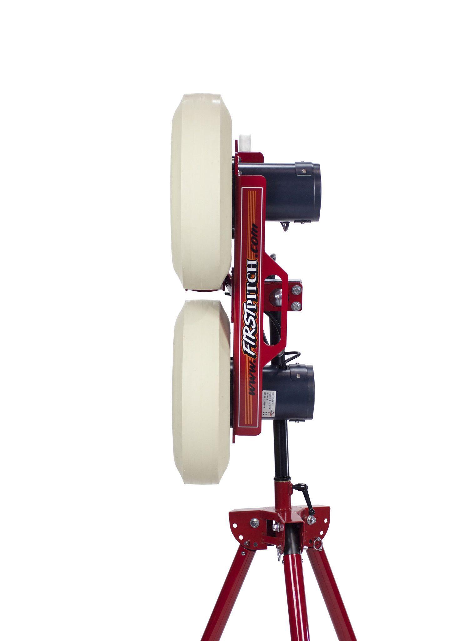First Pitch Dual Wheel Curveball Pitching Machine Baseball