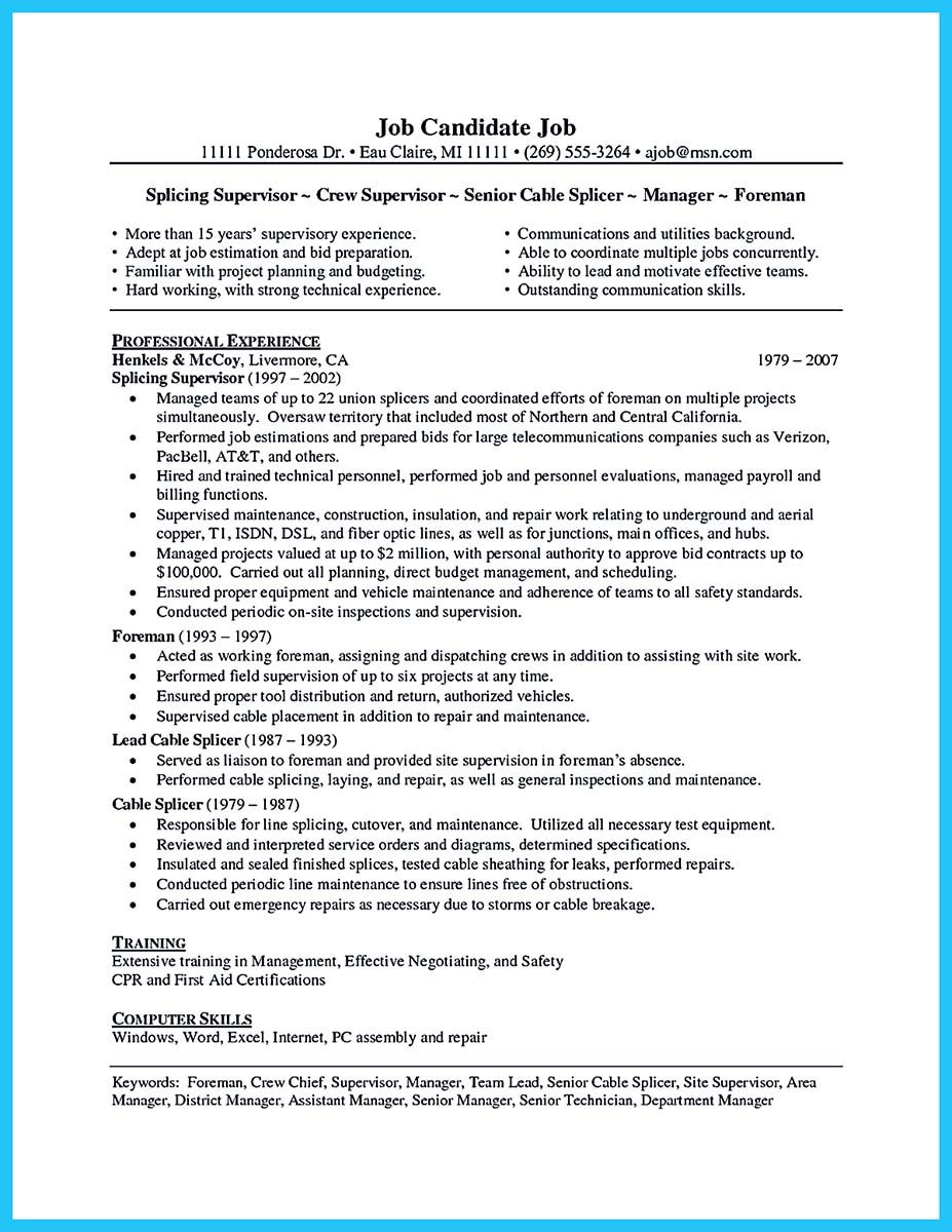 cool How to Make Cable Technician Resume That Is Really Perfect ...