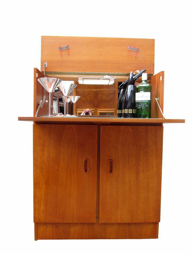 [gallery Mid century modern bar cabinet has great