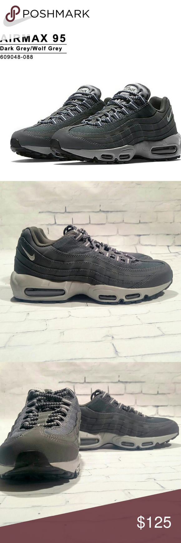 581b40c963b0 New Nike Air Max 95 Grey Wolf 609048-088 Shoes 8.5 You are buying Brand