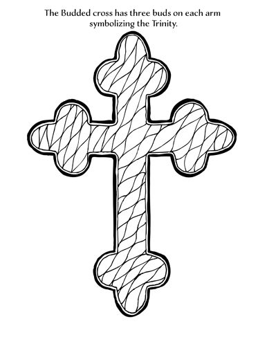 Budded Cross Coloring Page Free Downloads Natalie Schorr