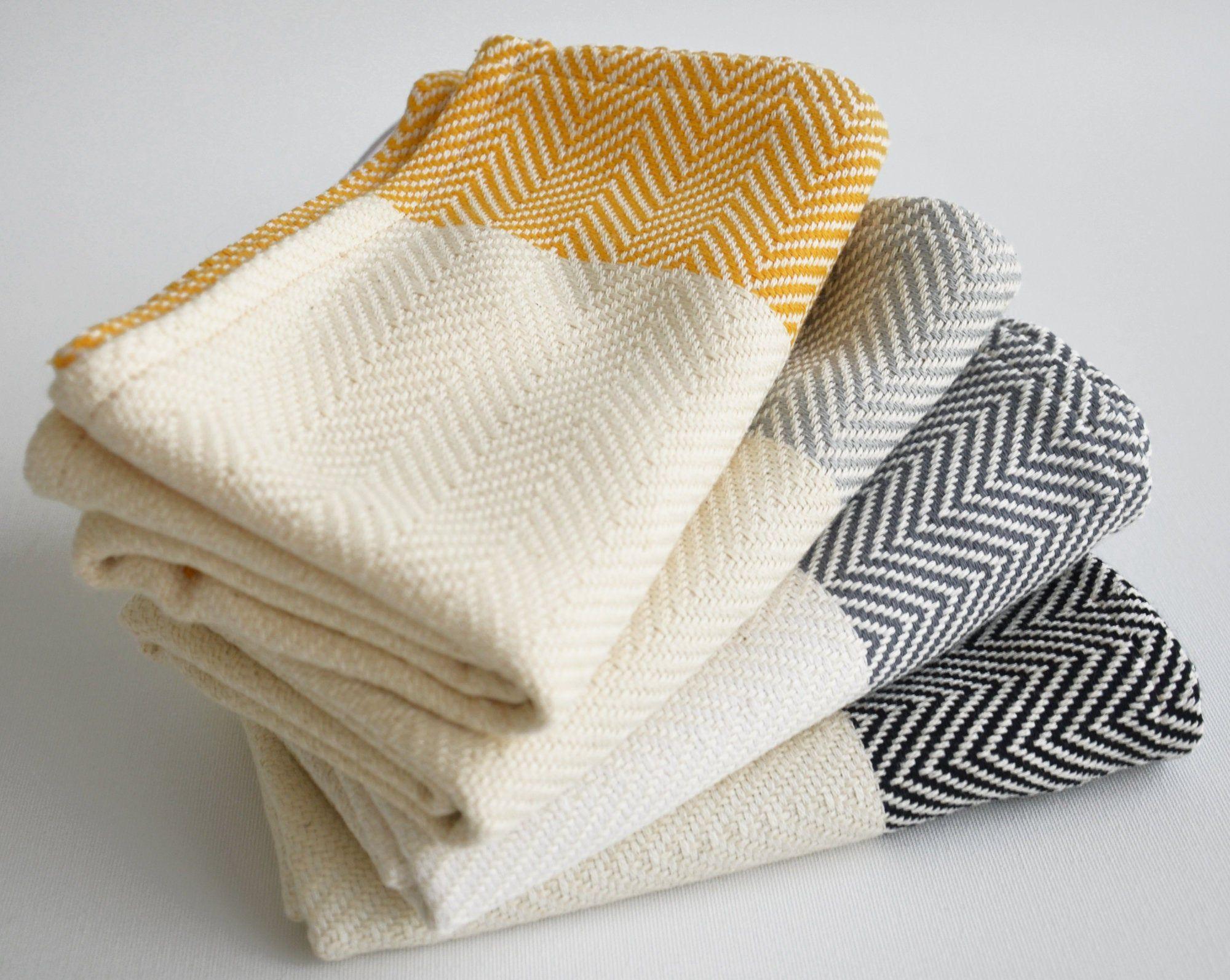 Kitchen Towel Hand Head Towel Tea Towel Black Gray Yellow