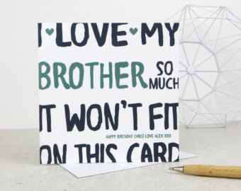 Brother Card Birthday Funny By BEpaperie