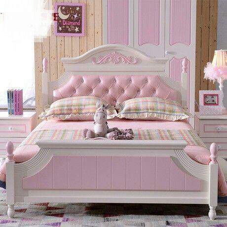 Los niños Camas Para Niños Muebles de madera maciza de pino camas