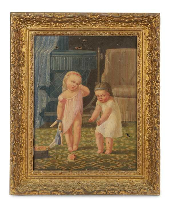 "Lot: 172. 19th Century Oil Painting ""The Broken Doll"" http://Theriaults.com/"