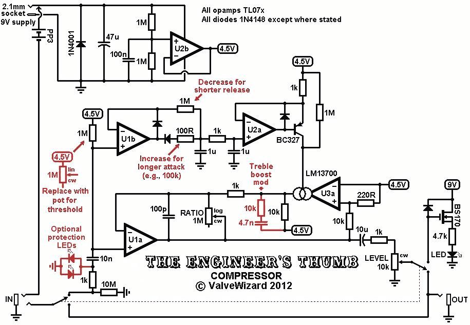 Image result for guitar compressor circuit schematic