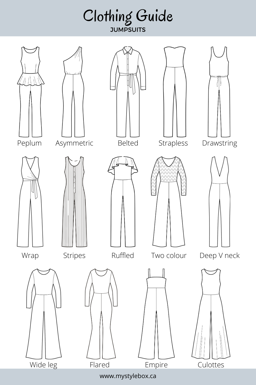 Types of Jumpsuits