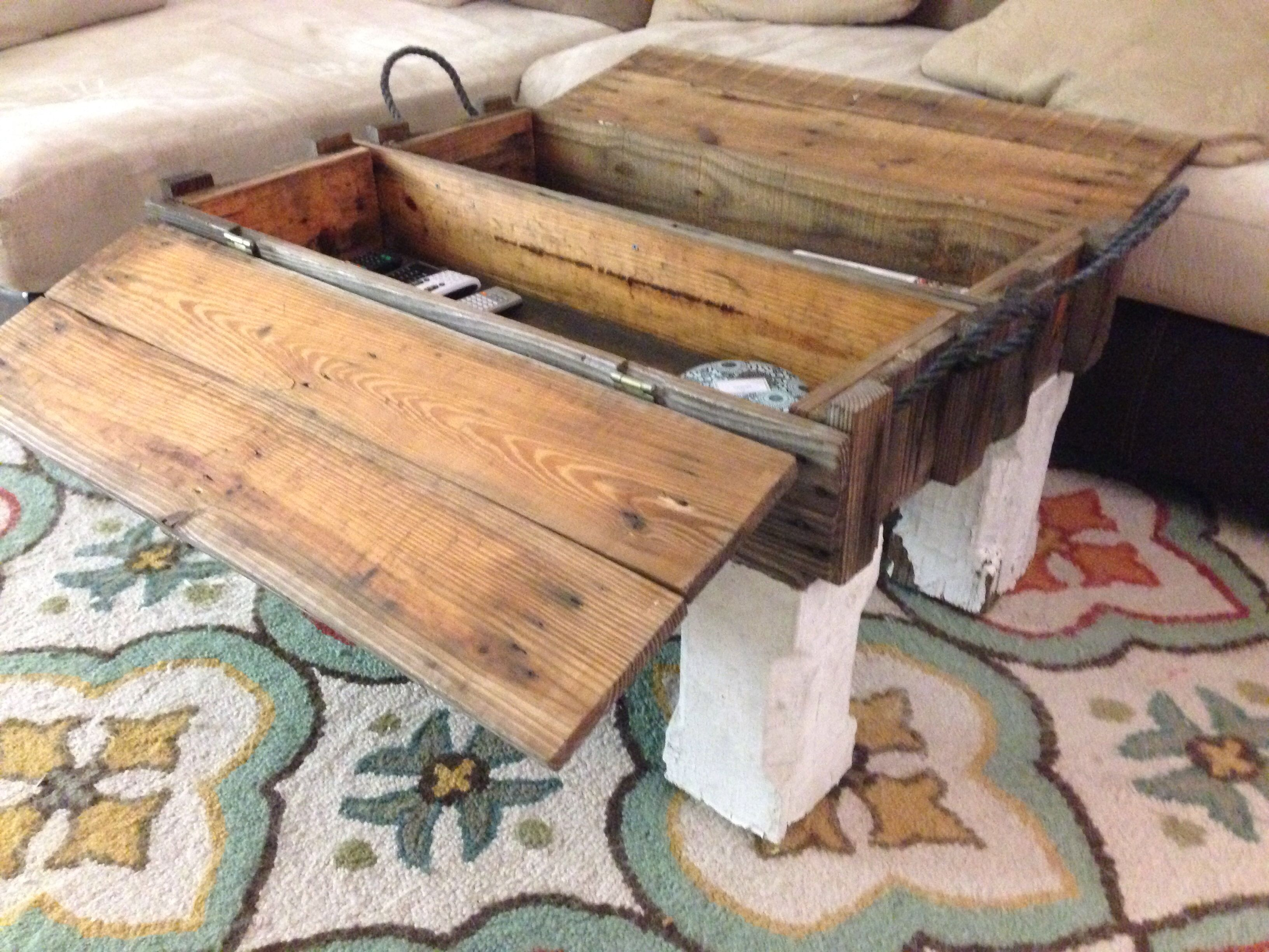 Ammo Box Coffee Table Opened Up For Storage Home Style