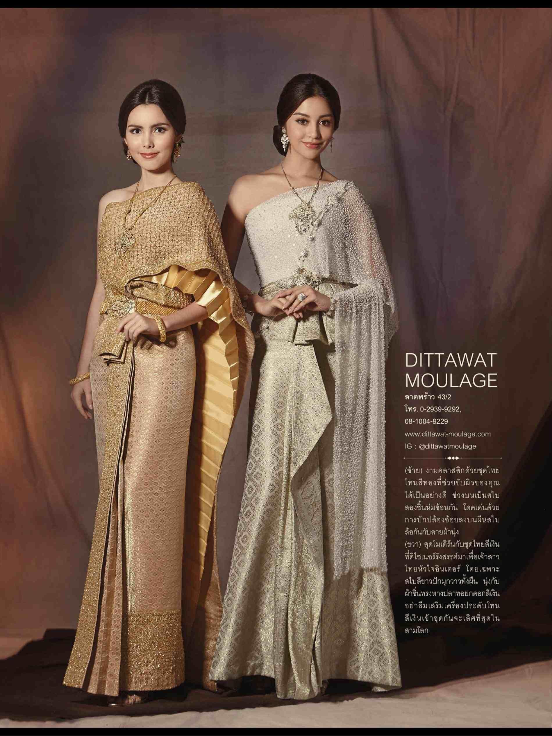 Thai wedding dress in traditional dress pinterest thai