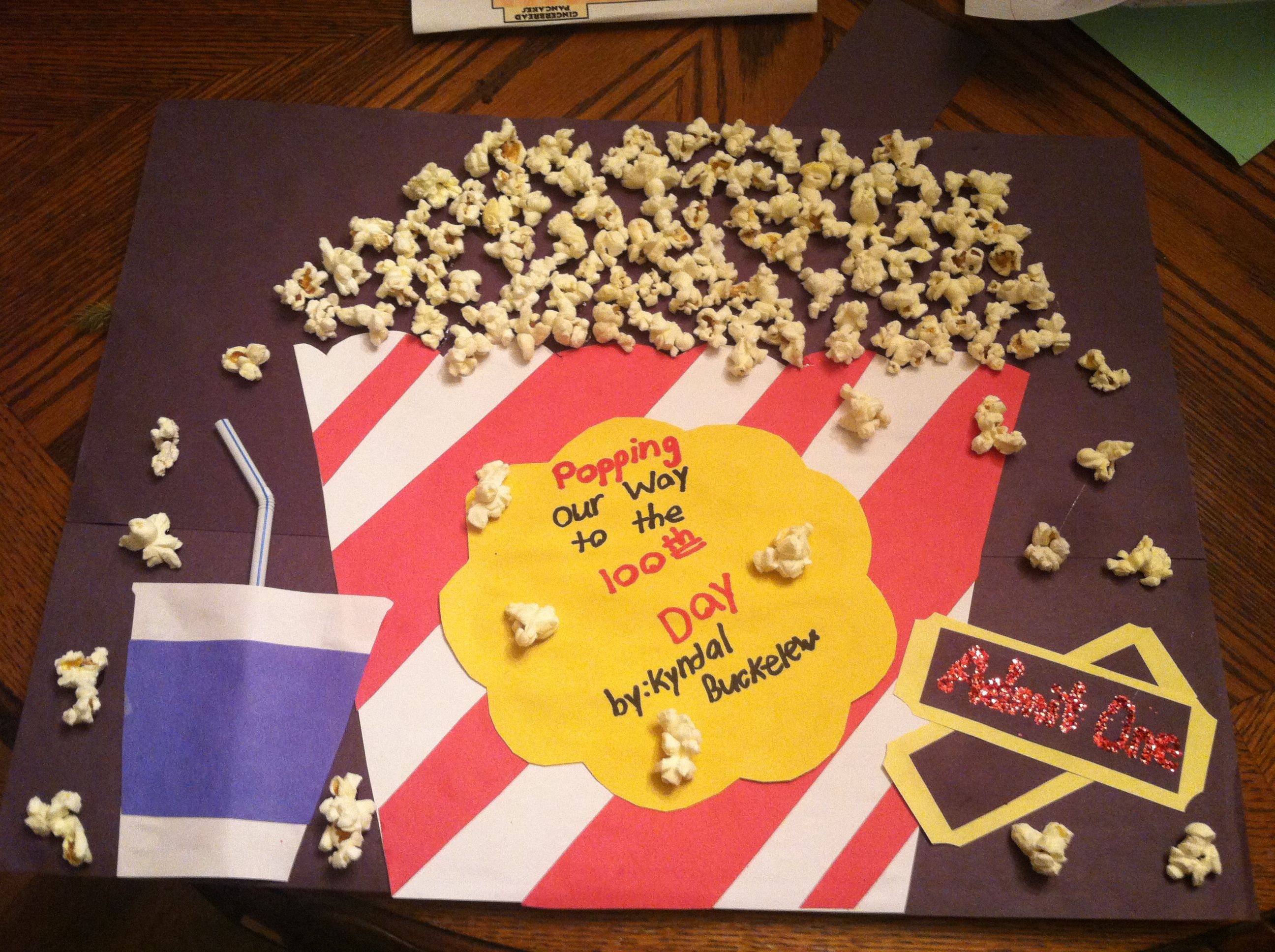f91d5cf50 Popcorn 100 days of school project | School Projects | 100 day of ...