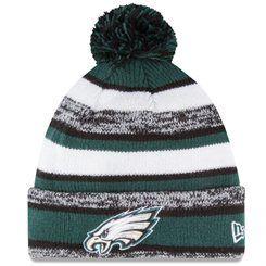 New Era Philadelphia Eagles Midnight Green On-Field Sport Sideline Cuffed  Knit Hat 6319a8f48f4a