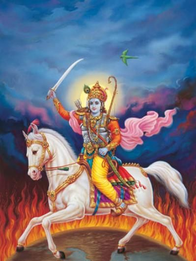 KALKI AVATAR – PRESENT KALYUG GOD VISHNU DEV ON WHITE HORSE