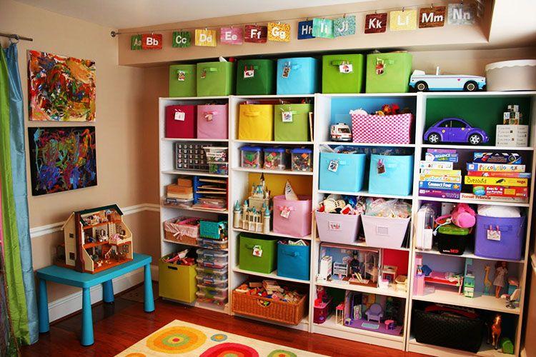 Childrens Playroom Shelves Toy Storage Solutions Playroom Storage Kids Storage