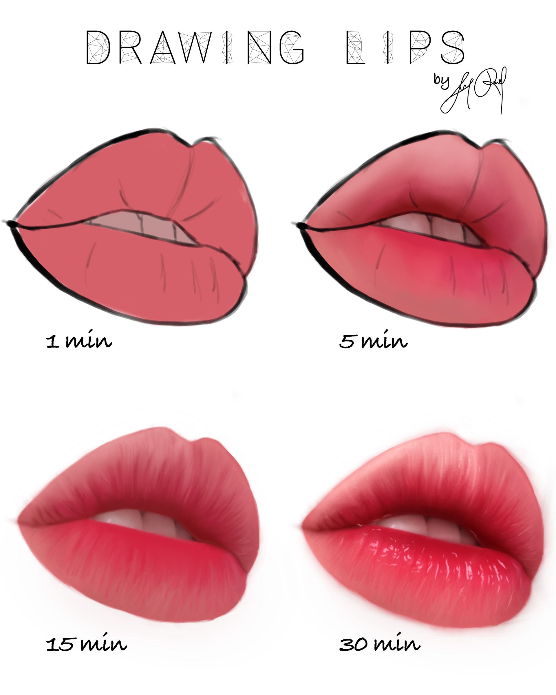 Artstation Drawing Lips Luna Roveda Lips Drawing Digital