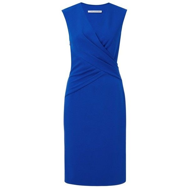 """A playful crossover front flatters the waist and brings movement to this fitted wear-to-work sheath dress.    Style #: D983202U16   59cm / 23"""" from natural wai…"""
