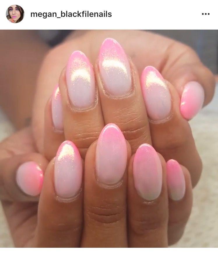 Pink fairy dust ombré nails. | Nail Art | Pinterest