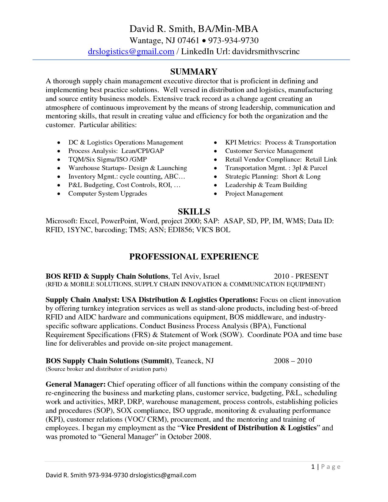 Linkedin Resume examples, Good resume examples, Resume