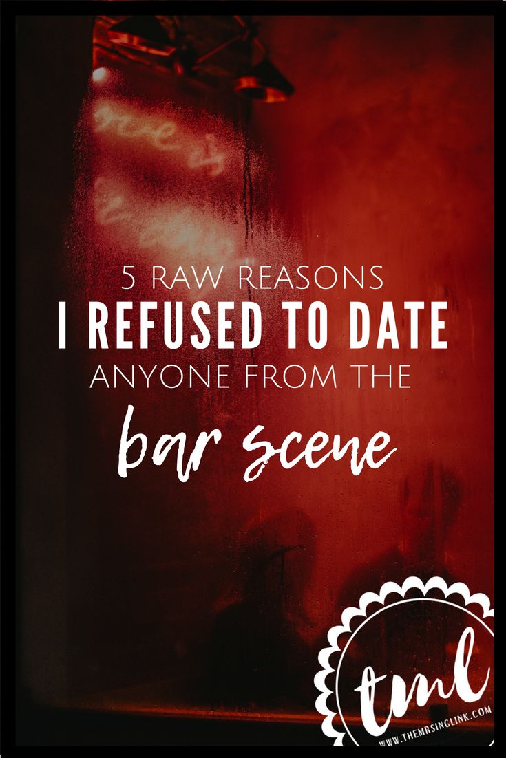 Dating someone who works in a bar