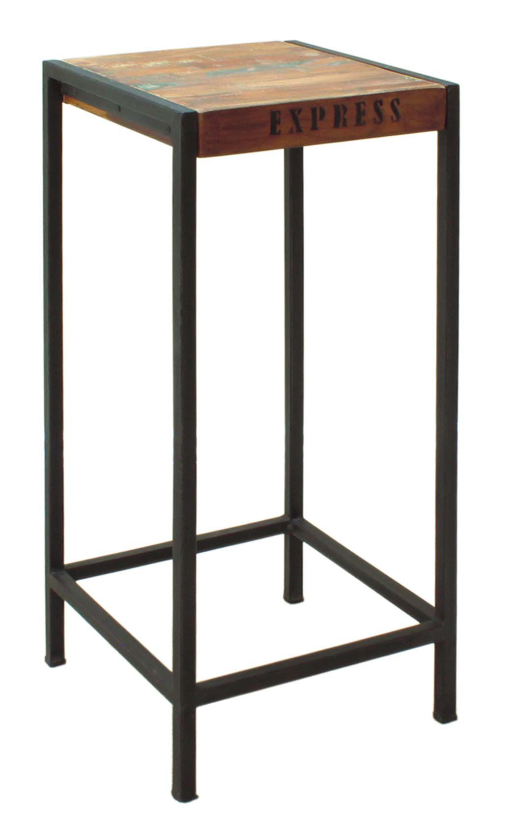 Industrial Chic Tall Lamp Table Plant Stand Tall Side Table