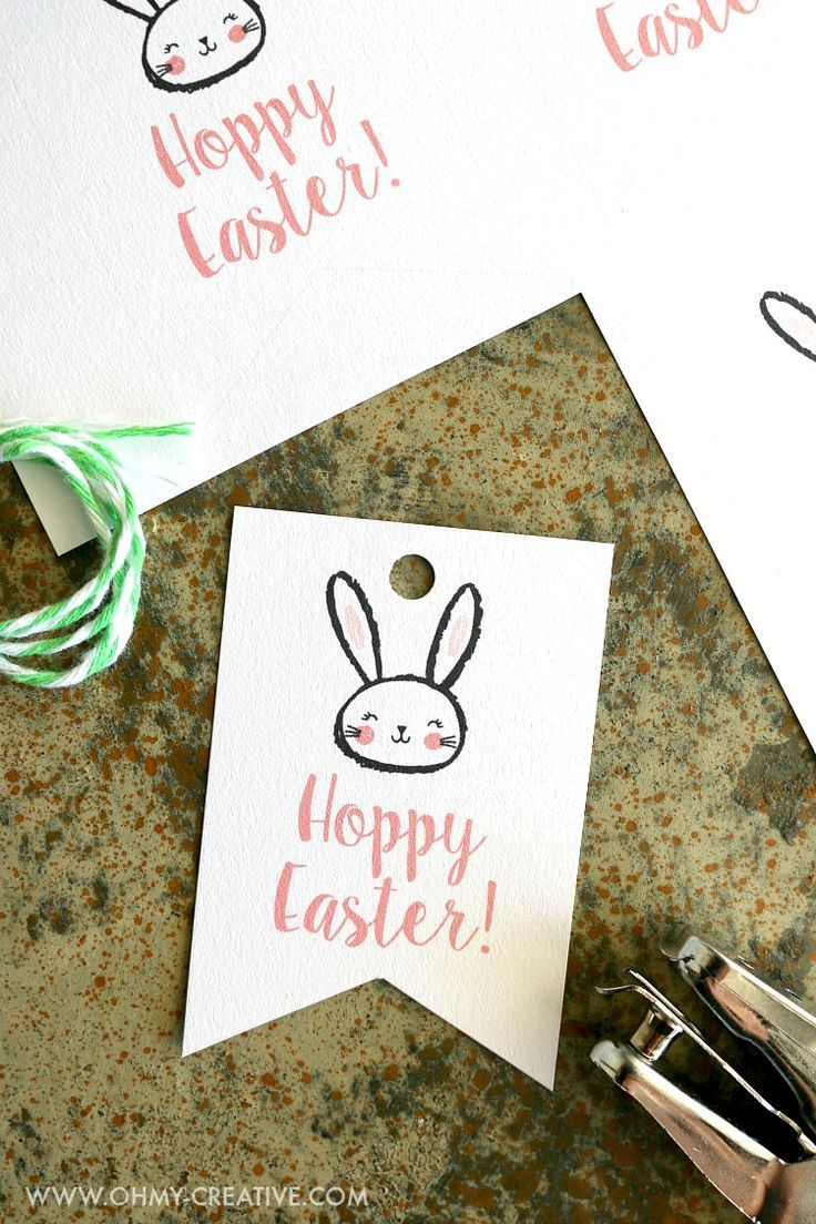 Free printable hoppy easter gift tags ohmy creative easter free printable hoppy easter gift tags ohmy creative easter printable negle Choice Image