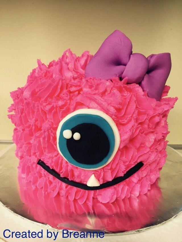 Girl Monster Smash Cake Disney Party In 2019 Monster
