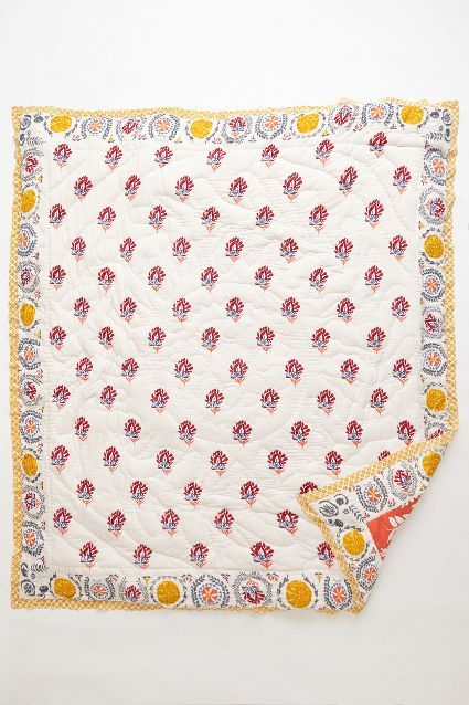 Zocalo Embroidered Quilt Embroidered Quilts Quilts Quilted Coverlet