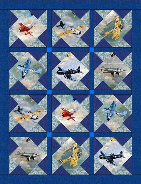 Vintage Plane Quilt Quilts Pinterest Airplane Quilt
