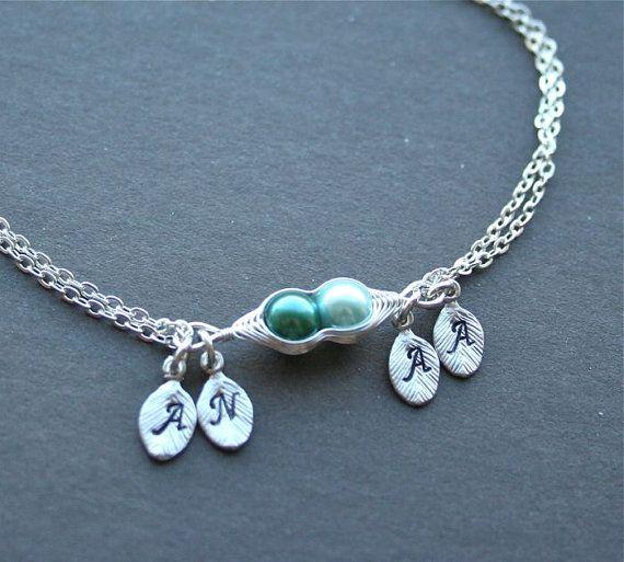 Pea Pod Bracelet Two Peas In A Peapod Jewelry