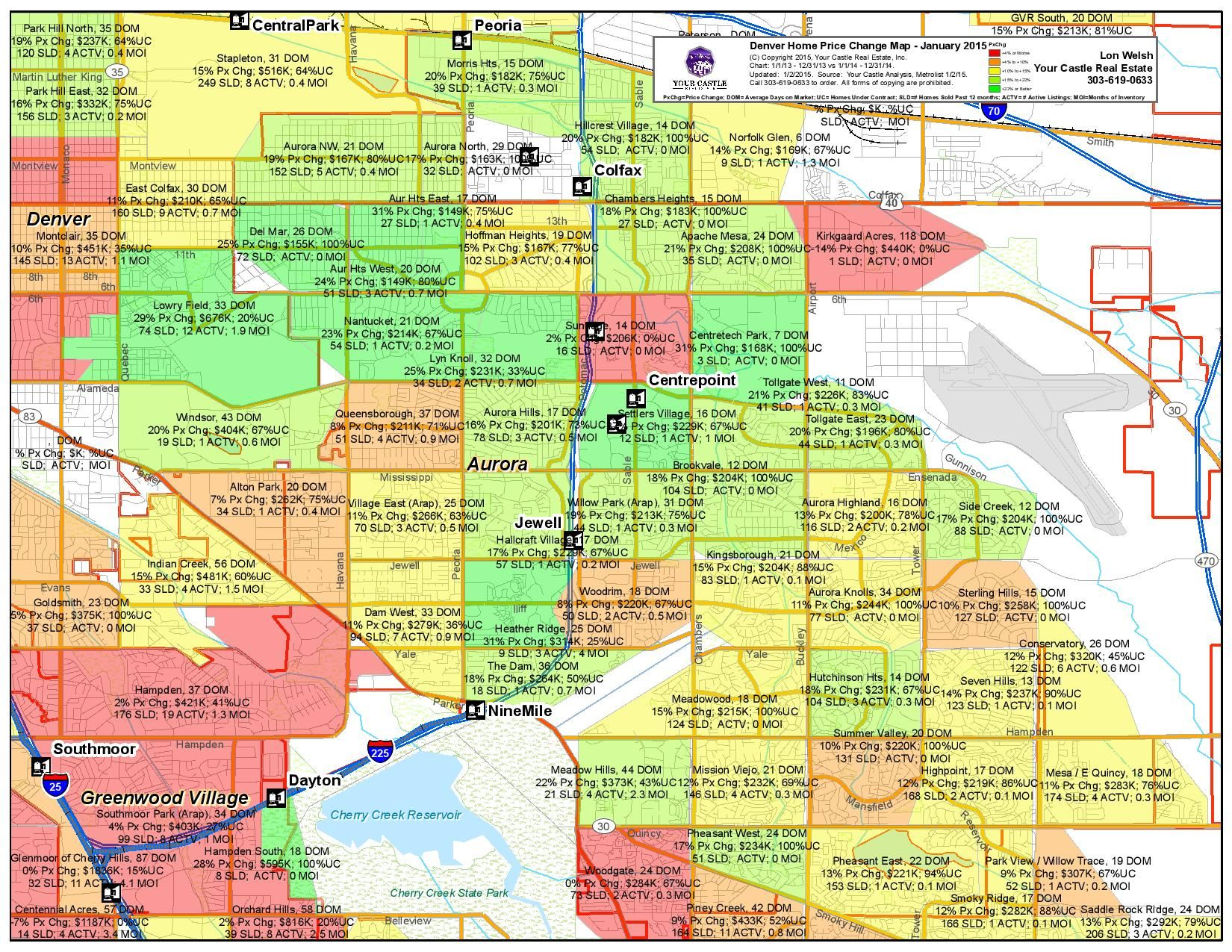 Aurora, Colorado appears from this map, to be a bit of a \'mixed bag ...