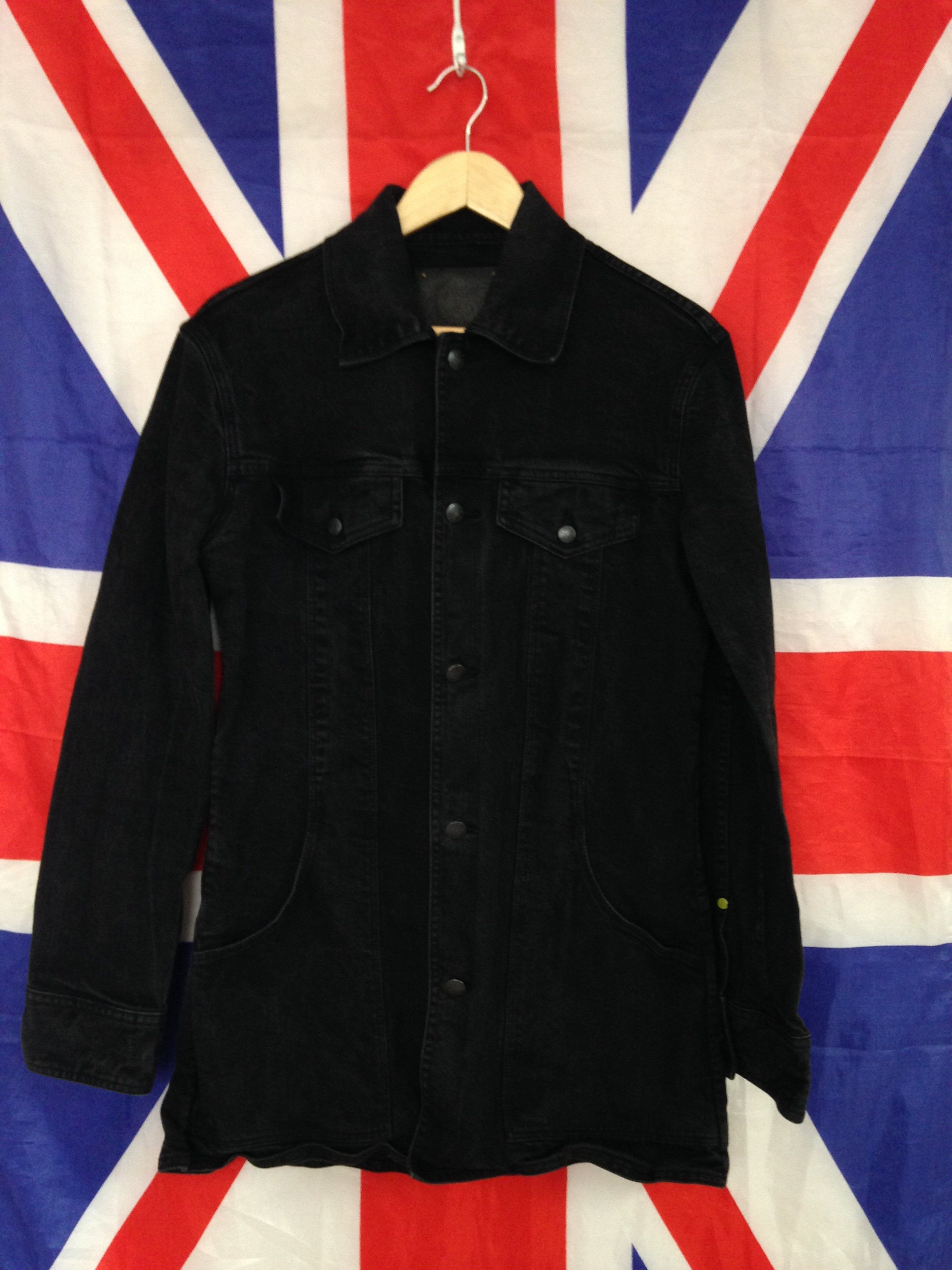 Pretty Green Long Denim Jacket Mint Condition Has Slight Denim Fade But Was Designed With This Wash Great Details As Jackets Black Denim Jacket Pretty Green [ 3264 x 2448 Pixel ]